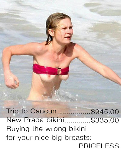 Priceless _-_ Kristen_Dunst_boobs_jump_out_of_bikini