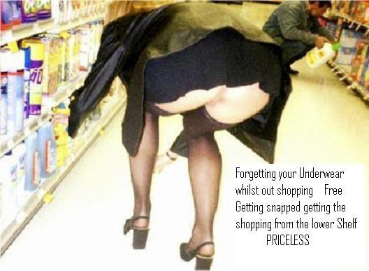 No tiene precio _-_ No_panty_while_shopping