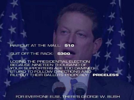 Al Gore losing election because of his stupid supporters