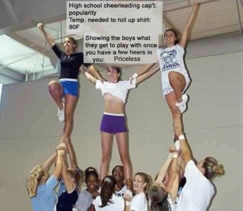 Cheerleader Forgets Underwear