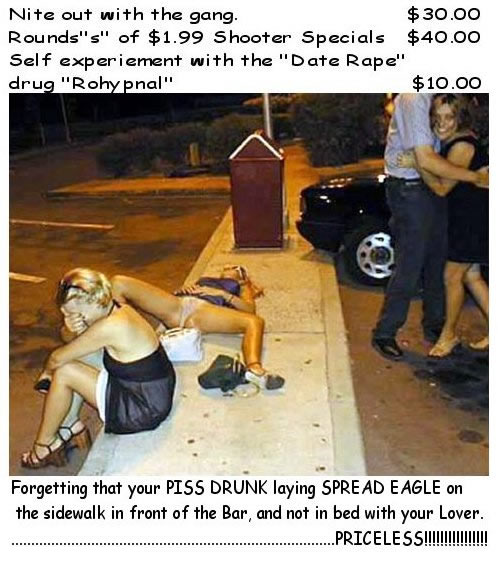 Drunk woman lying on the street