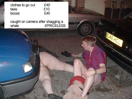 Drunk couple caught having sex on the street