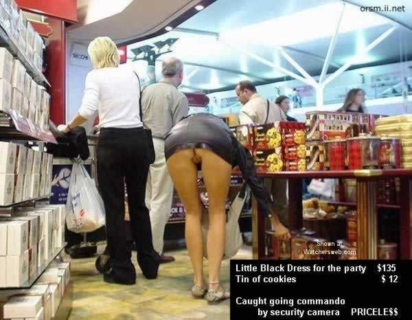 Woman shopping not wearing pantys