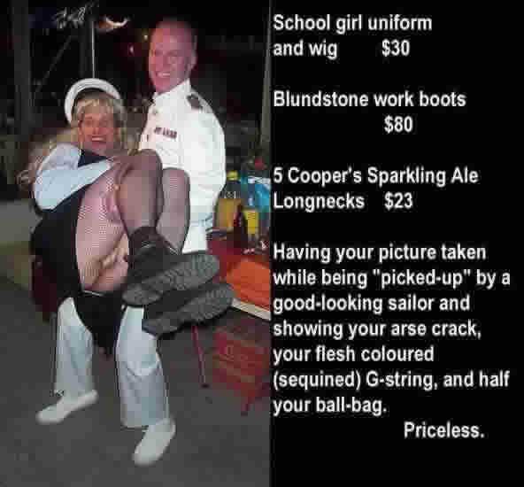 Sailor picks up a schoolgirl
